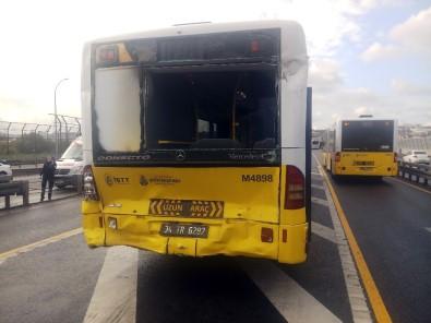 Beyoğlu Halıcıoğlu'nda Metrobüsler Çarpıştı Açıklaması 3 Yaralı