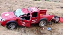 Kırıkkale'de Kamyonet Şarampole Devrildi Açıklaması 2 Yaralı
