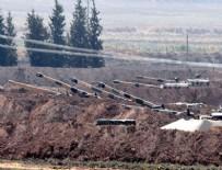 Suriye sınırında tank ve obüslerin namluları Suriye'ye çevrildi