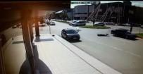 Bisiklet Sürücüsü Metrelerce Sürüklendi