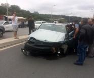 (Özel) Ataşehir'de İki Araç Birbirine Girdi Açıklaması 2 Yaralı