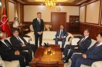 KAMU DENETÇİLERİ - Kamu Başdenetçisi Şeref Malkoç  Vali Baruş'u Ziyaret Etti