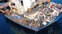(Özel) Şile Açıklarında Kaderine Terk Edilen Gemi Havadan Görüntülendi