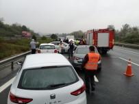 TEM'de 12 Araç Birbirine Girdi Açıklaması 3 Yaralı
