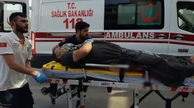 Bacağını Spiralle Kesen Kişi Ağır Yaralandı