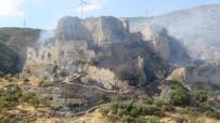 ROMA İMPARATORLUĞU - Bakras Kalesi'nde Çıkan Yangına Havadan Müdahale
