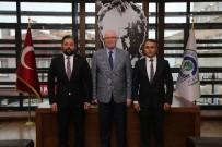 Bayramiç Belediye Başkanı Mert Uygun Kazım Kurt'u Ziyaret Etti