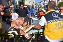 Gönen'de Elektrik Akımına Kapılan İşçi Ağır Yaralandı