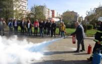 Çorlu Belediyesi Personeline Yangın Söndürme Eğitimi