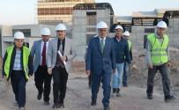 Rektör Uysal, DPÜ Kongre Ve Kültür Merkezi İnşaatını İnceledi