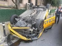 Ticari Taksi Takla Attı Açıklaması 2 Yaralı