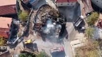 Akseki'de Tarihi Düğmeli Evde Yangın Çıktı