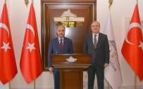 Emniyet Genel Müdürü Mehmet Aktaş, Vali Mustafa Tutulmaz'ı Ziyaret Etti