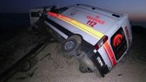 Karabük'te Ambulans Taşıyan Çekici Kaza Yaptı Açıklaması 1 Yaralı