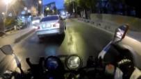Motosiklet Sürücülerinin Ölümden Kıl Payı Kurtulduğu Kazalar Kamerada