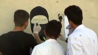 Öğrenciler 57 Metre Uzunluğundaki Duvara Polis Resimleri İşledi