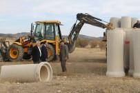 Dumlupınar'da Su Baskınlarına Karşı Menfez Çalışması