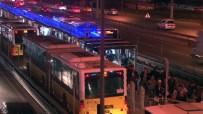 Polisten Kaçan Şahıs, Metrobüs Yolunda İzini Kaybettirdi