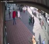 Başörtülü kıza yumruklu saldırı kamerada