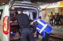 POLİS HELİKOPTERİ - Helikopter Havadan Destek Verdi, Polisler Denetim Yaptı