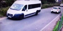 OKUL SERVİSİ - (Özel) Kartal'da Servis Minibüsünün Devrilme Anı Kamerada