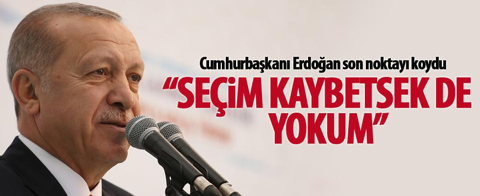 Cumhurbaşkanı Erdoğan son noktayı koydu!
