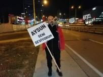 Eşiyle Barışabilmek İçin İstanbul'dan Ankara'ya Yürüyor