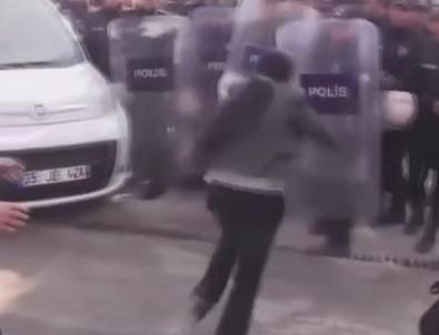 HDP'li millevekili polis kalkanına kafa attı