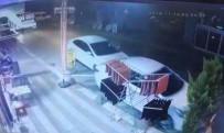 (Özel) Otomobil Sürücüsü, Dalgınlığının Bedelini Kaza Yaparak Ödedi