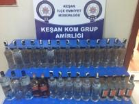 İÇKİ ŞİŞESİ - Keşan'da Taklit Bandrollü İçki Operasyonu