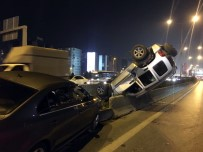 E-5'Te Kaza Yapan Lüks Cip Adeta Amuda Kalktı