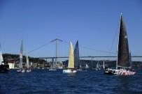 BOSPHORUS - Yelkenliler, İstanbul Boğazı'nda Kıyasıya Yarıştı