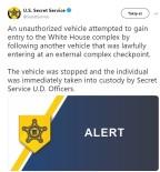 ŞÜPHELİ ARAÇ - Beyaz Saray'da Şüpheli Araç Paniği
