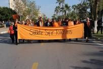 KÖY ENSTITÜLERI - Mersinli Kadınlardan 'Kadın Şiddetine Sıfır Tolerans' Yürüyüşü