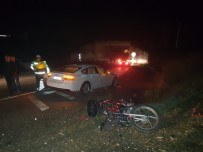 MESUT YILMAZ - Otomobille Çarpışan Motosiklet Sürücüsü Hayatını Kaybetti