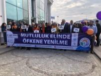 Tuzla'da' Kadına  Şiddete Hayır' Yürüyüşü Havadan Görüntülendi