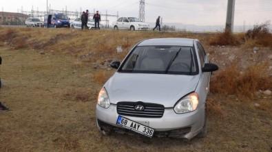 Aksaray'da Otomobil Şarampole Düştü Açıklaması 1 Yaralı