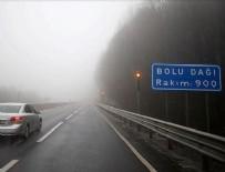 YAKIN TAKİP - Bolu Dağı'nda sağanak ve yoğun sis etkili oluyor