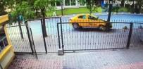 (Özel) Şişli'de Ticari Taksi Yolcusunun Dehşeti Yaşadığı Kaza Güvenlik Kamerasında