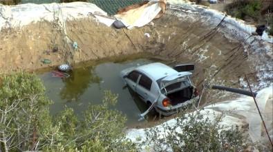 Otomobil Havuza Düştü, İçindeki Kadın Hayatını Kaybetti