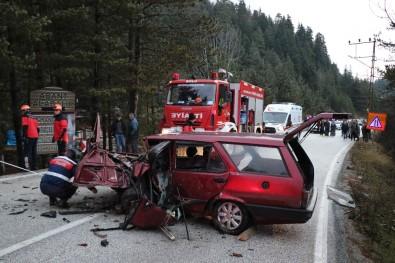 Bolu'da Tabiat Parkı Yolunda Kaza Açıklaması 1 Ölü, 2 Yaralı