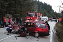 ABANT - Bolu'da Tabiat Parkı Yolunda Kaza Açıklaması 1 Ölü, 2 Yaralı