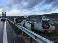 LÜKS OTOMOBİL - (Özel) Lüks Otomobil Takla Atıp Ters Döndü Açıklaması 2 Ağır Yaralı
