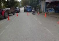 ERSİN ARSLAN - Gaziantep'te Motosiklet Yayaya Çarptı Açıklaması 3 Yaralı