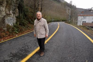 50 Yıllık Yol İlk Kez Asfalt Gördü