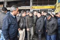 Başkan Beyoğlu Patlama Meydana Gelen Sebze Ve Meyve Halinde İncelemelerde Bulundu
