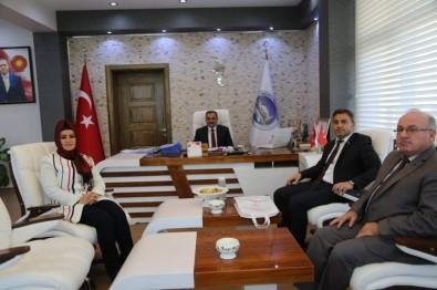 İlçe Sağlık Müdürü Anteplioğlu Başkan Cabbar'ı Makamında Ziyaret Etti