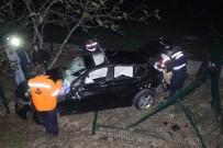 Otomobili İle 60 Metrelik Uçuruma Yuvarlanan Sürücü Alkollü Ve Ehliyetsiz Çıktı