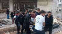 Cami İnşaatından Düşen İşçi Yaralandı