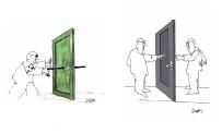 Çınar Şahenk 'Perspekta' Sergisiyle Karikatür Evi'nde